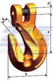 Zkracovací hák s vidlicí KPW průměr 13 mm, třída 10 - 2