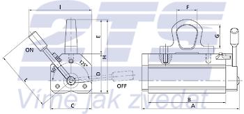 Permanentní břemenový magnet MaxX TG 300, nosnost 300 kg - 2
