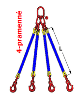 4-hák textilní RS, nosnost 3t, délka 3m - 2/2