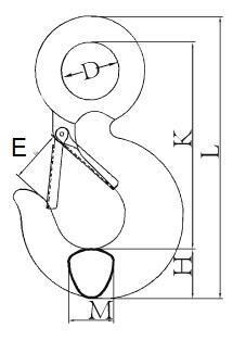 Lanový hák S-320A, 0,75 t GAPA130 - 2