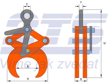 Svěrací kleště TLW 2 t - 2