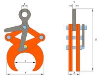 Svěrací kleště TLW 2 t, 219,1-368 mm - 2/3
