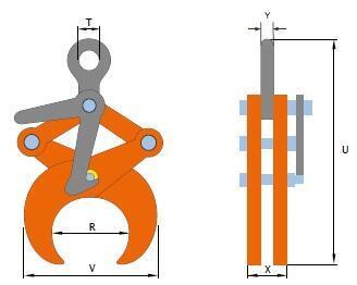Svěrací kleště TLW 2 t, 219,1-368 mm - 2
