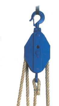 Obecný kladkostroj ruční K11, nosnost 2t,pro textilní lano ( bez lana) - 2