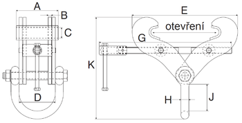 Svěrka Superclamp S2A 3t, 76-190mm - 2