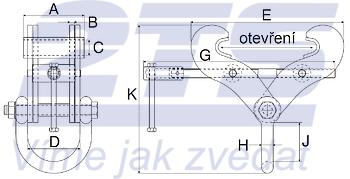 Svěrka Superclamp S2A 3t, 76-190mm - 2