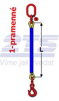 Oko-hák textilní RS, nosnost 1t, délka 4,5m, GAPA - 2