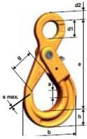 Vyklápěcí bezpečnostní hák s okem LHW průměr 22 mm, třída 10 - 2/2