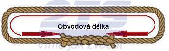 Nekonečné lano konopné průměr 14mm, užitná délka 1m - 2