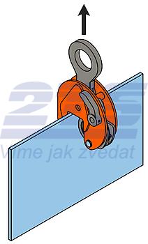 Vertikální svěrka VCEW-H 3t, Extra-Hart, 0-35 mm - 2