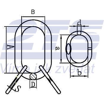 Závěsné oko lanové 45B, nosnost 32,8t GAPA96 - 2