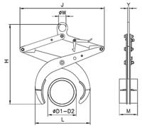 Svěrací kleště UKT 2500kg, 60-250 mm - 2/2