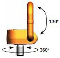 Šroubovací otočný a sklopný bod PLAW M42x65, nosnost 10 t, max.délka - 2/4