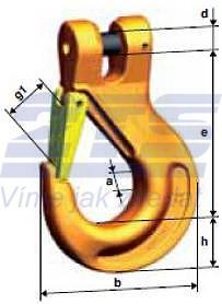 Hák s vidlicí KHSW průměr 22 mm, třída 10 - 2