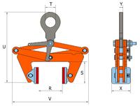 Svěrací kleště BLCW 2 t, 220-360 mm - 2/4
