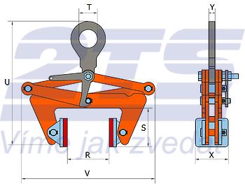 Svěrací kleště BLCW 2 t, 220-360 mm - 2