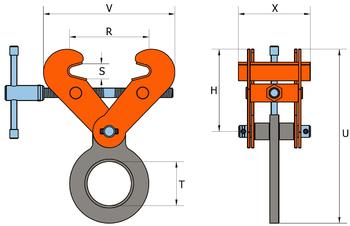 Šroubovací svěrka SVSW 5 t, 150-560 mm - 2