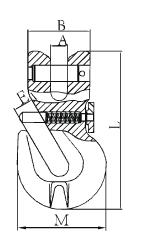 Zkracovací hák s vidlicí a pojistkou ZHVPE průměr 13 mm GAPA313, třída 8 - 2