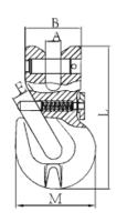 Zkracovací hák s vidlicí a pojistkou ZHVPE průměr 13 mm GAPA313, třída 8 - 2/2