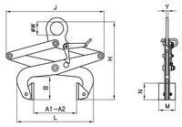 Svěrací kleště na bloky SKB 1000kg, svěrná šíře 250 - 500 mm - 2/2