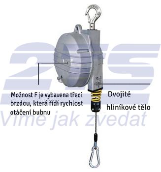 Balancér 9354 (Tecna), nosnost: 4-7 kg, 2000 mm - 2