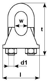 Lanová svorka DIN 741, průměr 10 mm - 2