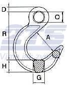 Slévárenský hák WHOE, průměr 8mm GAPA, třída 10 - 2