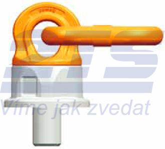 Šroubovací otočný a sklopný bod PLDW M48x68, nosnost 12,5 t,s čipem NFC - 2