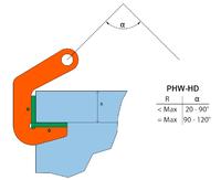 Horizontální svěrka PHW-HD 20 t, 60 mm - 2/2