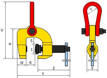 Šroubovací svěrka SCCW 3 t, 0-60 mm - 2