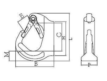 Navařovací hák SAH 3 000 kg, GAPA019, třída 8 - 2