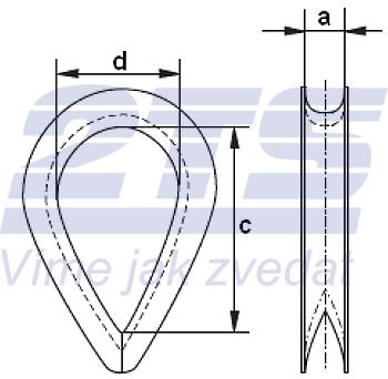 Lanová očnice DIN 6899 typ B, průměr 5mm - 2
