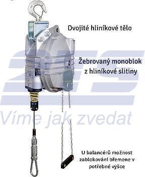 Balancér 9431 (Tecna), nosnost: 15-20 kg, 3000 mm - 2