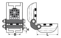 Rohová kloubová ochrana SKB-30A pro textilní úvazky 30mm, bez magnetů - 2/2