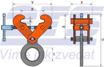 Šroubovací svěrka SVW 5 t, 150-300 mm - 2