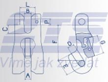 Zkracovací hák s vidlicí a pojistkou VKP průměr 7 mm, třída 8 - 2