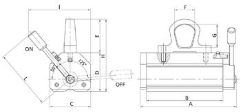 Permanentní břemenový magnet MaxX 1500, nosnost 1500 kg - 2