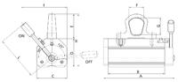 Permanentní břemenový magnet MaxX 1500, nosnost 1500 kg - 2/2