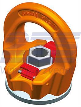 Šroubovací otočný  bod PLGW-SN- M30x45, nosnost 4,9t,basic bez čipu NFC-pro montáž.klíč - 2