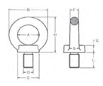 Šroubovací bod RSH M12x21, nosnost 1600 kg, tř.8 - 2