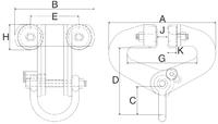 Závěsný ruční vozík A2 superclamp 6t, 100-305mm - 2/2