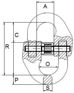 Spojovací člen VG průměr 22 mm, třída 8 - 2