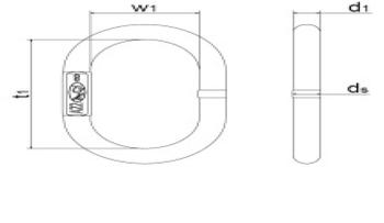 Závěsné oko AE18-10-08 GAPA011, třída 10 - 2
