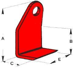 Stohovací hák GH-EURO 2 500 kg, třída 4 - 2