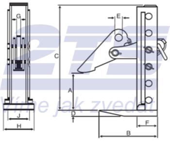 Horizontální svěrka CHHKV 3 t, 0-180 mm - 2