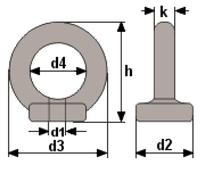 Matice s okem DIN 582 M8 - 2/4