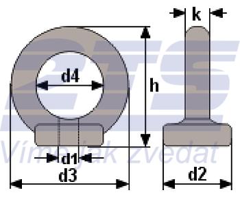 Matice s okem DIN 582 M8 - 2