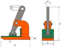 Horizontální svěrka NMHW 3 t, 0-45 mm - 2/3