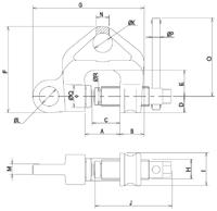 Šroubovací svěrka WF 2 t, 3-45 mm - 2/4