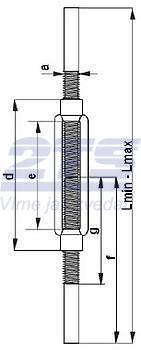 Lanový napínák DIN 1480 navařovací černý, M8 - 2